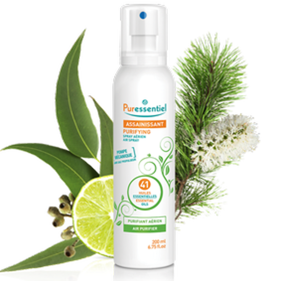صورة PURESSENTIEL PURIFYING ANTIBACTERIAL LOTION SPRAY WITH 3 ESSENTIALS OILS 80ML