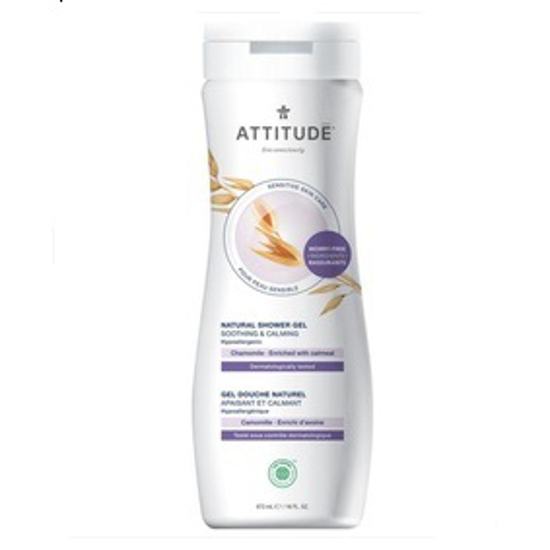Picture of ATTITUDE SENSITIVE SKIN, HYPOALLERGENIC SOOTHING & CALMING SHOWER GEL, CHAMOMILE 16 FLUID OUNCE