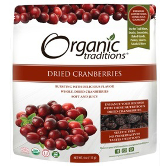 Picture of ORGANIC DRIED CRANBERRIES 113 GM