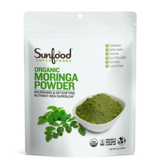 Picture of SUNFOOD SUPERFOODS MORINGA POWDER, 8OZ, ORGANIC