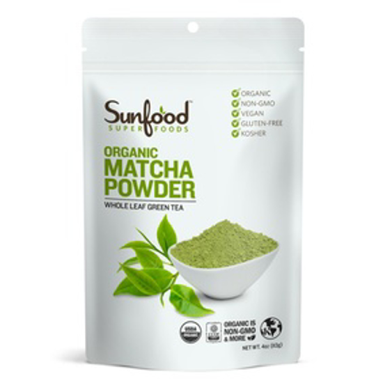 Picture of SUNFOOD SUPERFOODS MATCHA GREEN TEA POWDER, 4OZ, ORGANIC