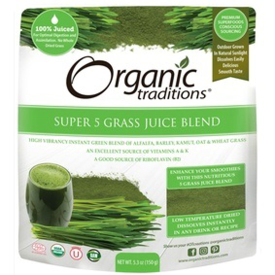 Picture of ORGANIC SUPER 5 GRASS JUICE BLEND 150 GM
