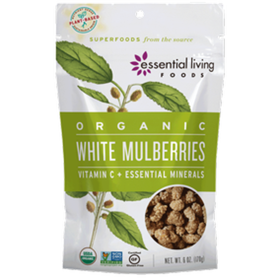 Picture of ESSENTIAL LIVING FOODS WHITE MULBERRIES ORG 6OZ