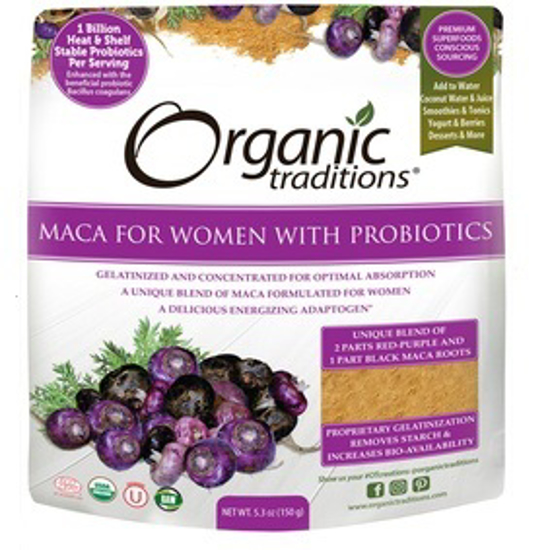 Picture of ORG TRADITIONS MACA WOMEN'S W/PROBIOTICS POWDER 150G