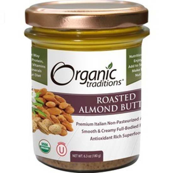 Picture of ORGANIC ROASTED ALMOND BUTTER 180 GM