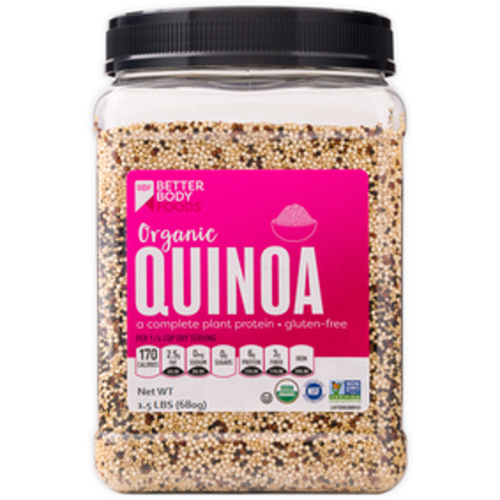 Picture of BETTER BODY FOODS ORGANIC QUINOA MEDLEY 680 GRAMS