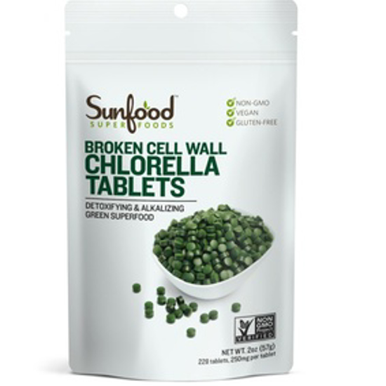 صورة SUNFOOD SUPERFOODS CHLORELLA TABLETS, 2OZ