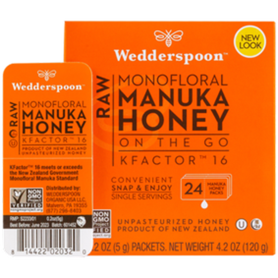 صورة HONEY ON THE GO - RAW MONOFLORAL MANUKA HONEY KFACTOR 16 24 PCS