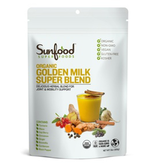 صورة SUNFOOD SUPERFOODS GOLDEN MILK SUPER BLEND, 6OZ, ORGANIC