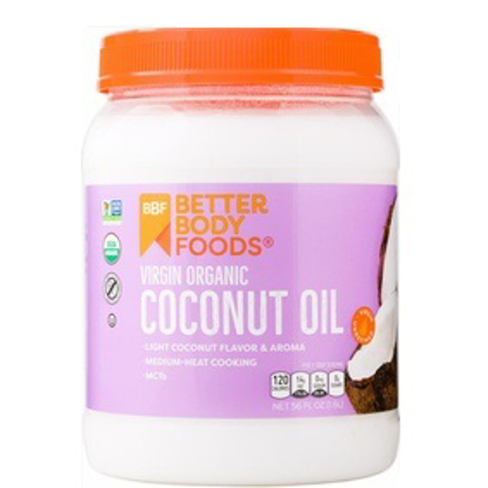 Picture of BETTER BODY FOODS ORGANIC REFINED COCONUT OIL 458 ML