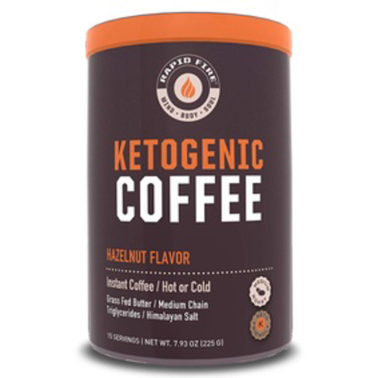 Picture of RAPID FIRE HAZELNUT KETOGENIC COFFEE, SUPPORTS ENERGY, METABOLISM AND WEIGHT LOSS, 7.93 OZ (15 SERVINGS)
