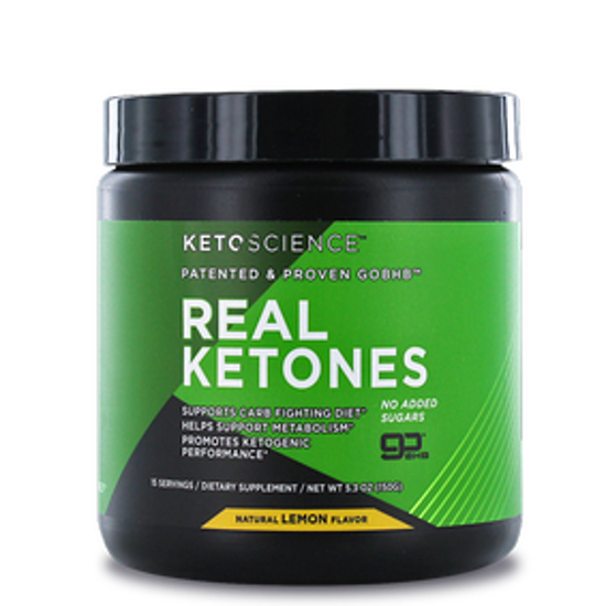 Picture of REAL KETONES POWDER NATURAL LEMON FLAVOR 15 SERVINGS 150 GM