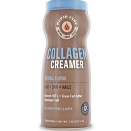 صورة RAPID FIRE COLLAGEN CREAMER FOR HAIR, SKIN & NAILS, WITH COCONUT MCTS, GRASS FED BUTTER, HIMALAYAN PINK SALT, 7.55 OZ, 14 SERVINGS