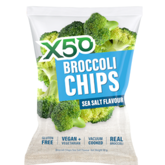 Picture of X50 BROCCOLI CHIPS - SEA SALT