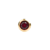 صورة Studex® 12 Pairs (Dozen pack) 24ct Gold Plated Birthstone Bezel January Garnet Mini: DZ-M201Y