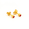 Picture of Studex® 12 Pairs (Dozen pack) 24ct Gold Plated Birthstone Bezel July Ruby Regular: DZ-R207Y