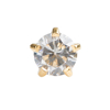 Picture of Studex® 12 Pairs (Dozen pack) 24ct Gold Plated Cubic Zirconia Tiffany Regular: DZ-R100Y
