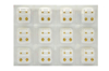 صورة Studex® 12 Pairs (Dozen pack) 24ct Gold Plated Shapes Flowerlite Regular: DZ-R508Y-4