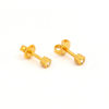 Picture of Studex® 12 Pairs (Dozen pack) 24ct Gold Plated Shapes Flowerlite Regular: DZ-R508Y-4