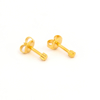 صورة Studex® 12 Pairs (Dozen pack) 24ct Gold Plated Shapes Star Mini: DZ-M501Y