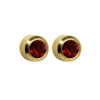 Picture of Studex® Select™ 24ct Gold Plated Crystals Bezel January Garnet Regular: PR-R201Y-STX