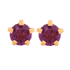 Picture of Studex® Select™ 24ct Gold Plated Crystals Tiffany February Amethyst Regular: PR-R102Y-STX