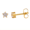 Picture of Studex® Select™ 24ct Gold Plated Cubic Zirconia Tiffany Mini: PR-M100Y-STX
