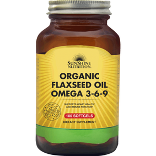 صورة SUNSHINE NUTRITION ORGANIC FLAXSEED OIL OMEGA 3-6-9 100 SOFTGEL