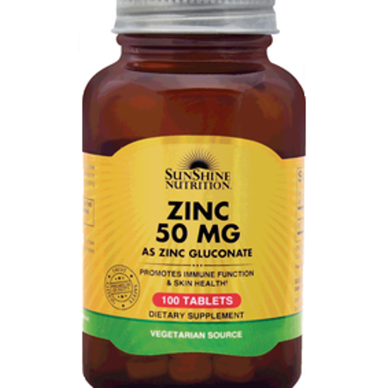 صورة SUNSHINE NUTRITION ZINC 50 MG  100 TABLETS