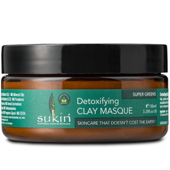 صورة SUKIN SUPER GREENS DETOXIFYING CLAY MASQUE 100ML : 04414