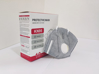 صورة KN 95 FACE MASK 1 pcs Grey - Wholesale